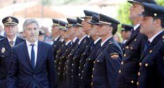 El ministro del Interior en funciones, Fernando Grande-Marlaska, en un acto de la Policía Nacional.