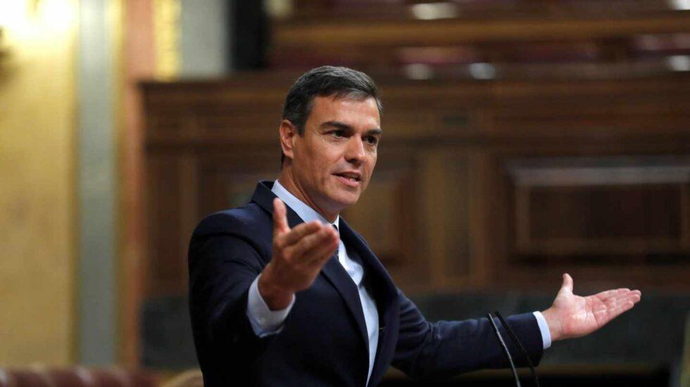 Pedro Sánchez, este miércoles en el Congreso de los Diputados.