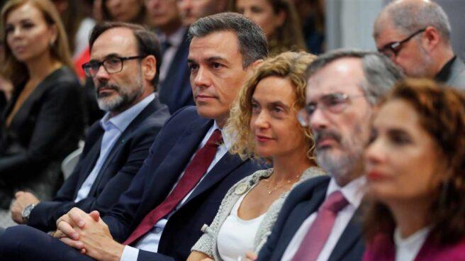 Pedro Sánchez, durante un desayuno informativo este jueves en Madrid.