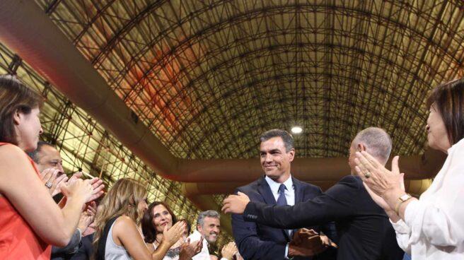 Pedro Sánchez, durante el acto de presentación de sus propuestas para la investidura.