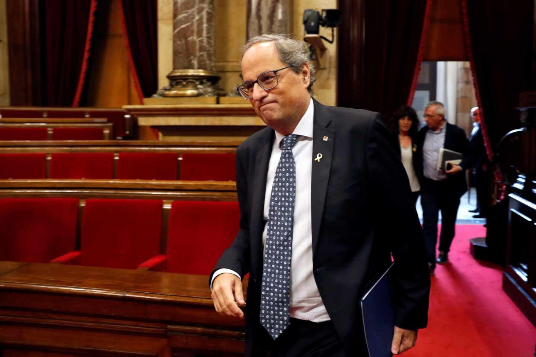 La JEC delega en el Parlament la destitución de Torra como presidente  de la Generalitat