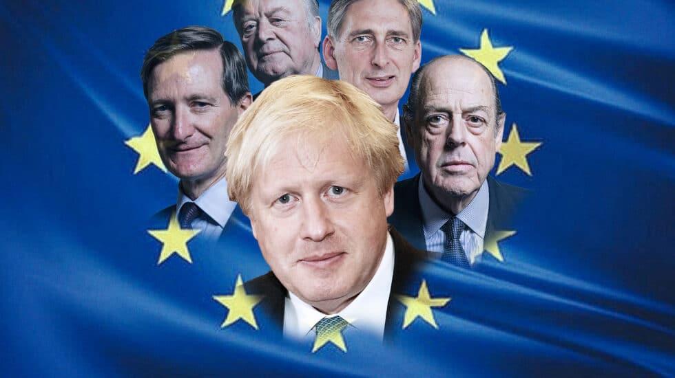 Cuatro de los 21 rebeldes 'tories' con Boris Johnson