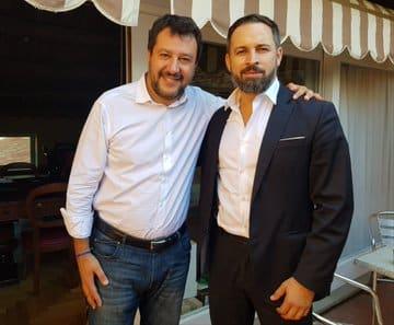 Matteo Salvini y Santiago Abascal, en Roma.