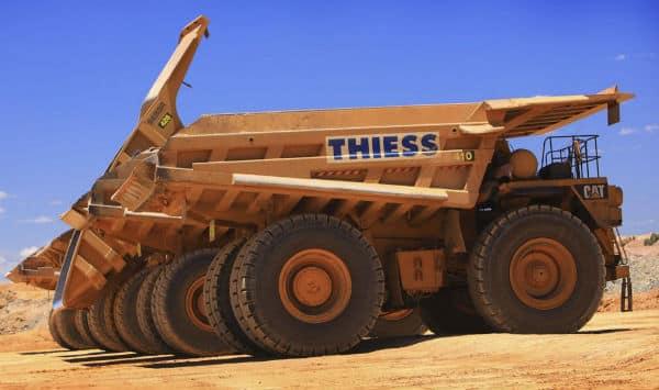 Camiones de Thiess, filial de ACS.