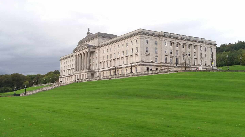 Parlamento de Stormont, en Belfast.