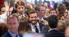 Pablo Casado en un acto este martes en Murcia