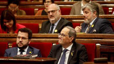 """El Parlament ratifica a Torra contra """"el golpe de Estado"""""""