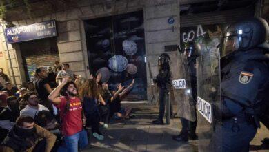 La primera jornada de protestas se salda con 131 heridos en Cataluña