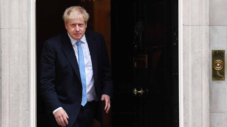Boris Johnson, primer ministro británico, en el 10 de Downing Street.