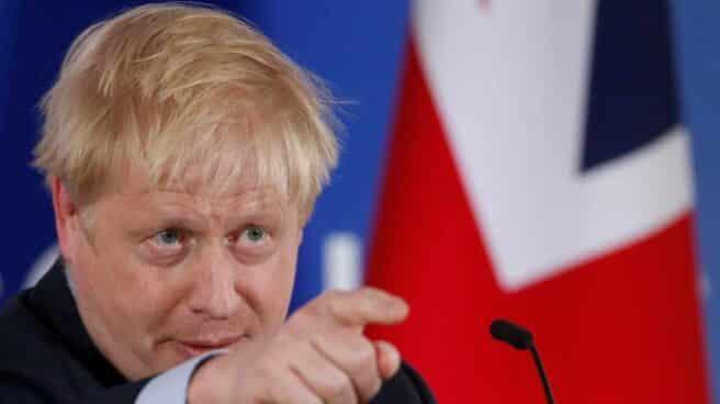 Boris Johnson tras el Consejo Europeo.