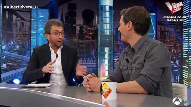 Albert Rivera durante la entrevista con Pablo Motos en El Hormiguero.