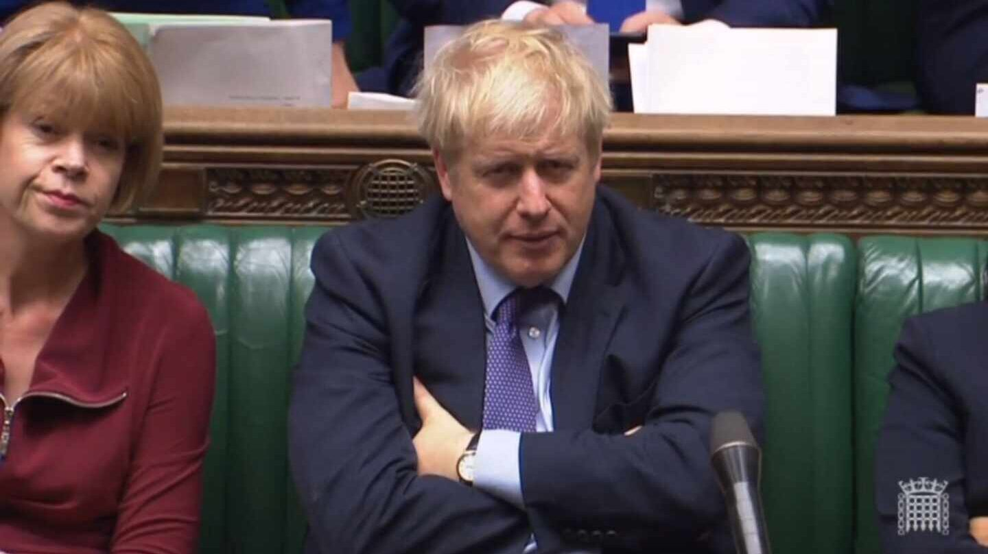 Boris Johnson en Westminster