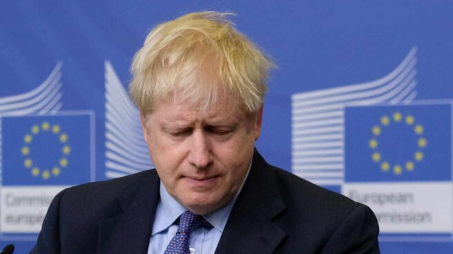 Boris Johnson en la cumbre europea.