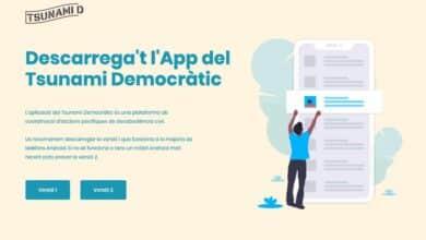 Tsunami Democràtic crea una app para coordinar a los independentistas