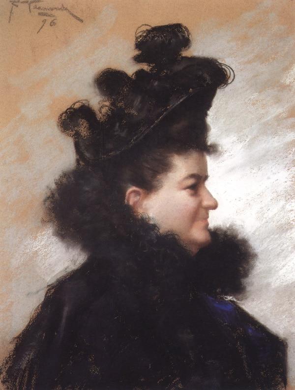 Retrato de Emilia Pardo Bazán, del pintor coruñés Joaquín Vaamonde Cornide