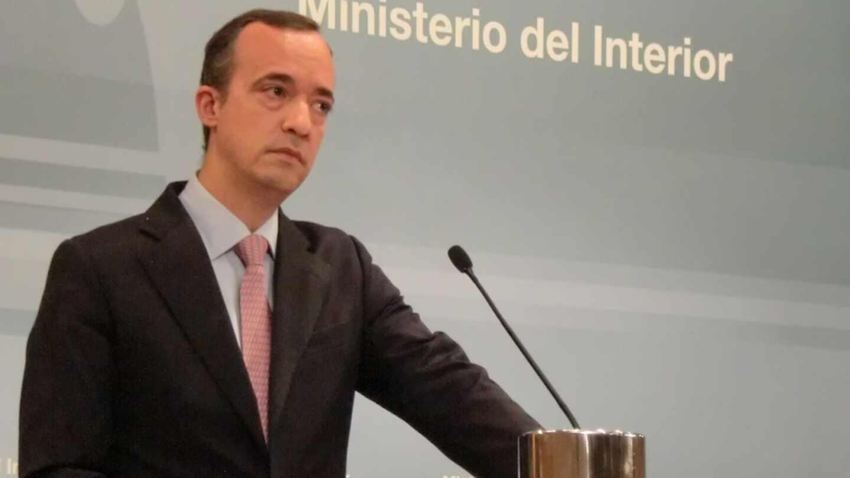 Francisco Martínez, en una comparecencia durante su etapa como secretario de Estado de Seguridad.
