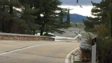 El helicóptero que trasladará a El Pardo el féretro de Franco, en el Valle de los Caídos