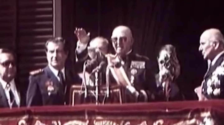 Francisco Franco, en una imagen de su última aparición pública