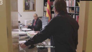"La teatralizada reacción de Torra a la negativa de Sánchez a responder a su llamada: ""Quins collons"""