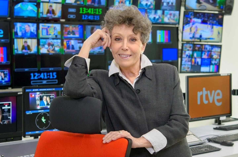 Rosa María Mateo, administradora provisional de RTVE, en las instalaciones de la cadena pública.