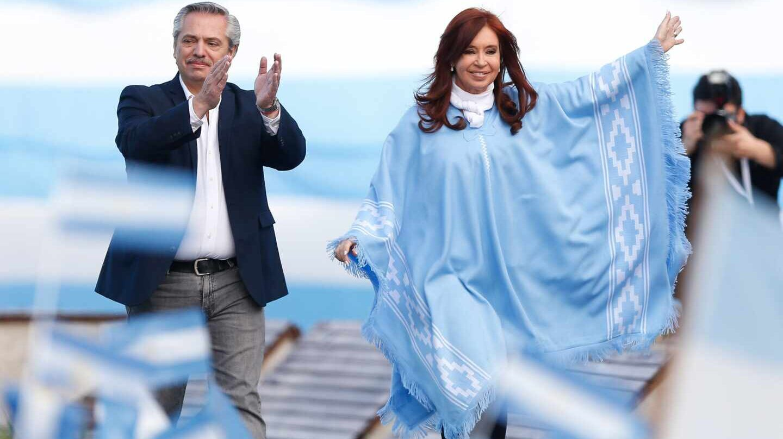 Alberto Fernández y Cristina Fernández en Argentina