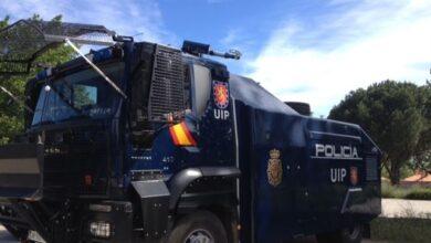 La Policía manda a Cataluña el camión lanza-agua, sin uso desde que se compró en 2014