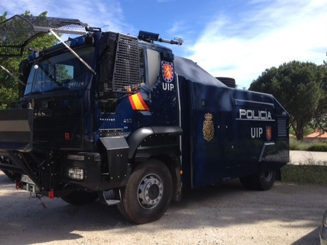 El camión lanza-agua de la Policía Nacional, adquirido a finales de 2014.