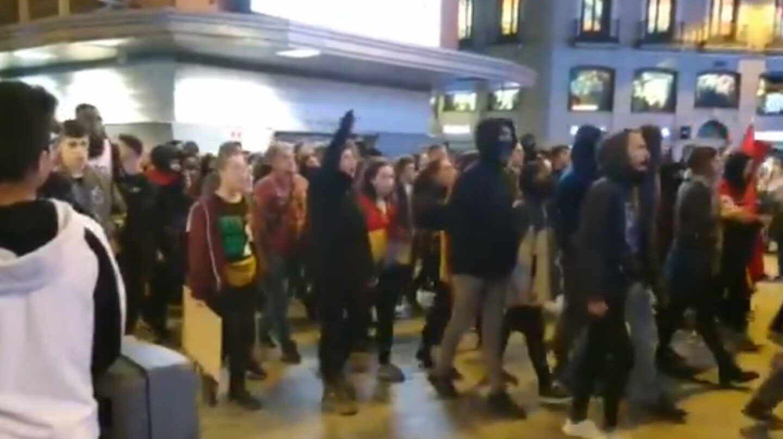 La Policía carga en Madrid contra un grupo de manifestantes contra la sentencia del 'procés'