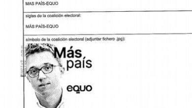 Errejón copia la fórmula de Podemos: su cara será el logo de las papeletas de Más País y Equo