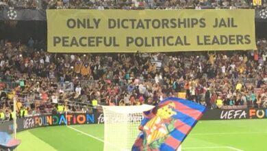 """La UEFA no sancionará al Barcelona por la pancarta en la que se llama """"dictadura"""" a España"""