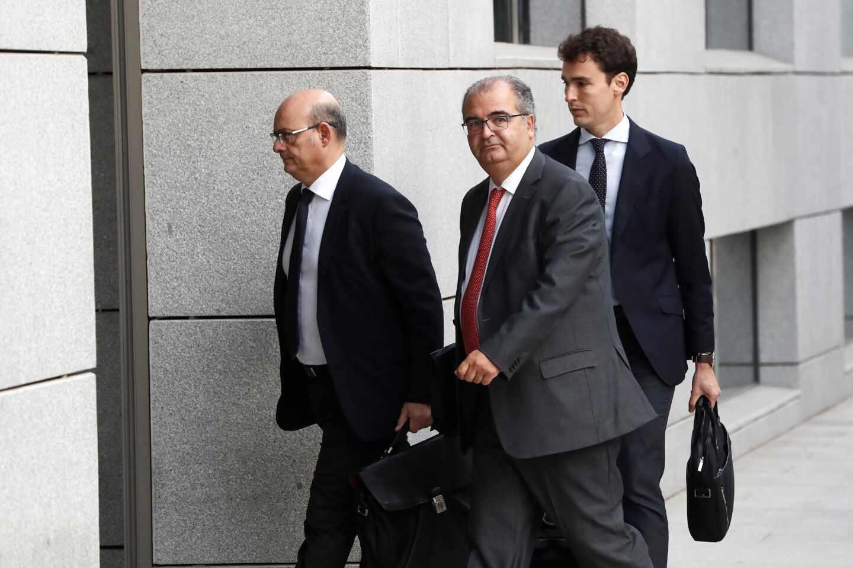 El expresidente del Banco Popular Ángel Ron, a su llegada este martes a la Audiencia Nacional.
