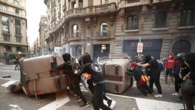 Los CDR vuelven a amenazar este sábado la sede de la Policía en Barcelona