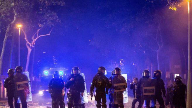 Mossos d'Esquadra, durante los disturbios de Barcelona tras conocerse la sentencia del 'procés'.