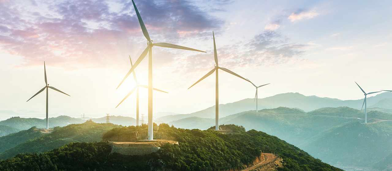 Un parque de energía eólica de Endesa.