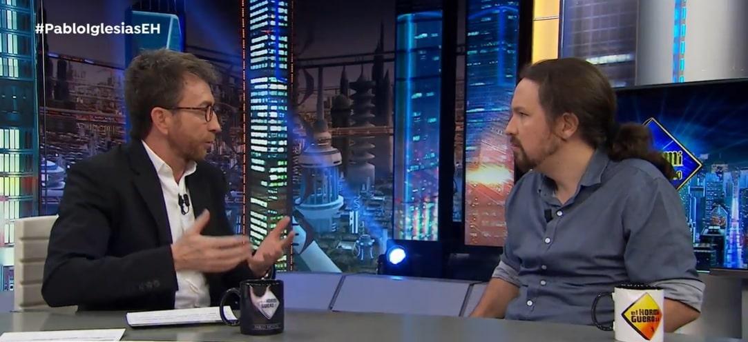 Pablo Motos y Pablo Iglesias