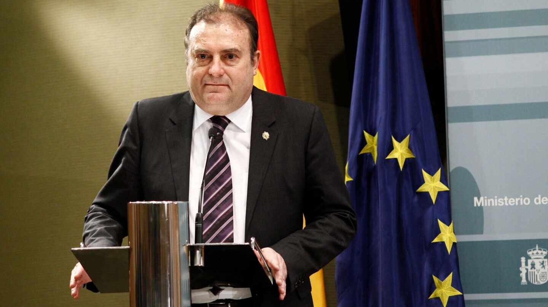 El comisario principal José Luis Olivera, tras ser nombrado director del CITCO en 2015.