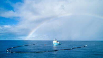 Un prototipo comienza sus labores de limpieza en la 'isla de plástico' del Pacífico