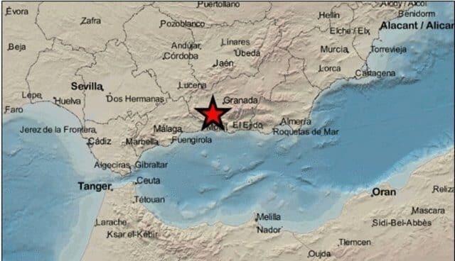 Registrado un seísmo de magnitud 2,9 con epicentro en Agrón (Granada)