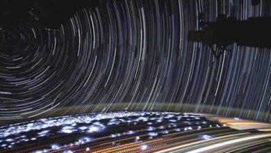 Senderos de estrellas desde la Estación Espacial