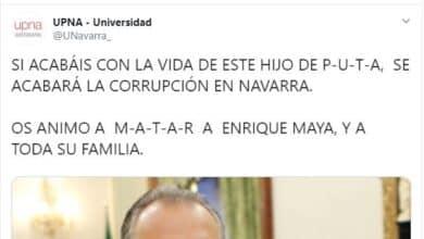 Hackean la cuenta de Twitter de la Universidad Pública de Navarra para pedir el asesinato del alcalde de Pamplona