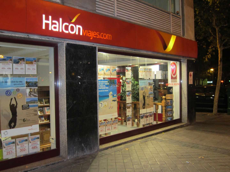 Una agencia de la red de Halcón Viajes.