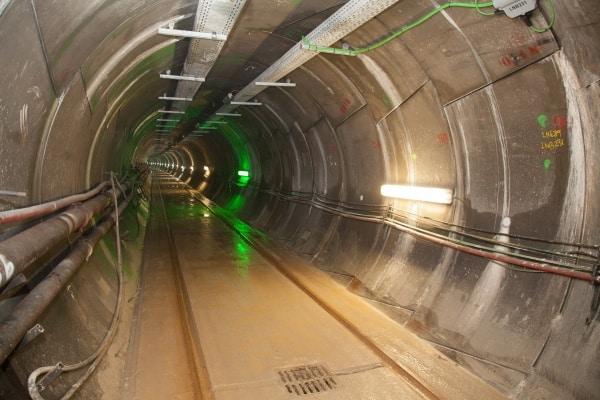 Túnel para la interconexión eléctrica entre España y Francia.