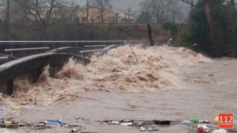 Tramos de los ríos Saja, Pas y Escudo (Cantabria) en seguimiento por desbordamiento