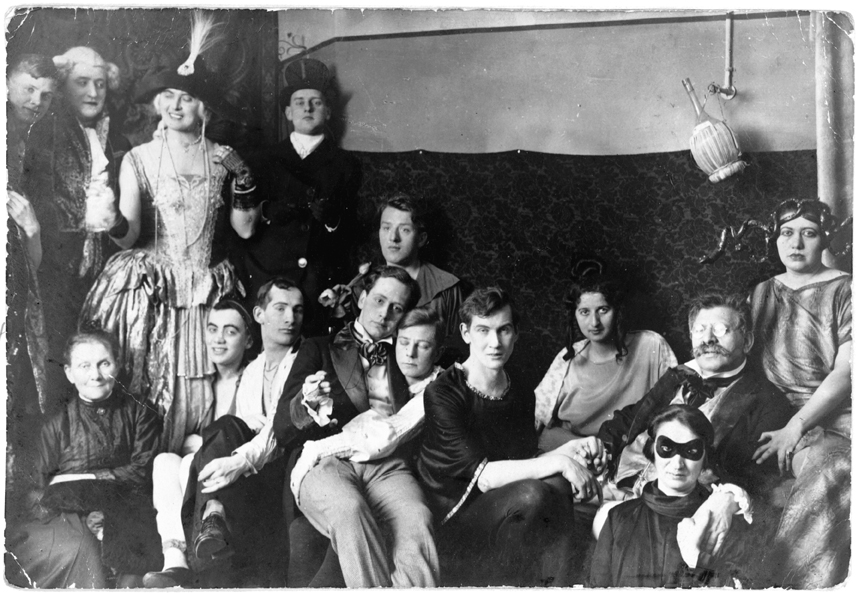Magnus Hirschfeld, en una fiesta del Instituto de Ciencia Sexual