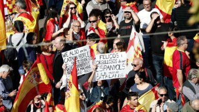 Galería: las mejores imágenes de la manifestación constitucionalista de Barcelona