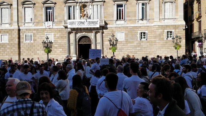 Más País pincha en Barcelona: fracaso de convocatoria de Parlem en la plaza Sant Jaume