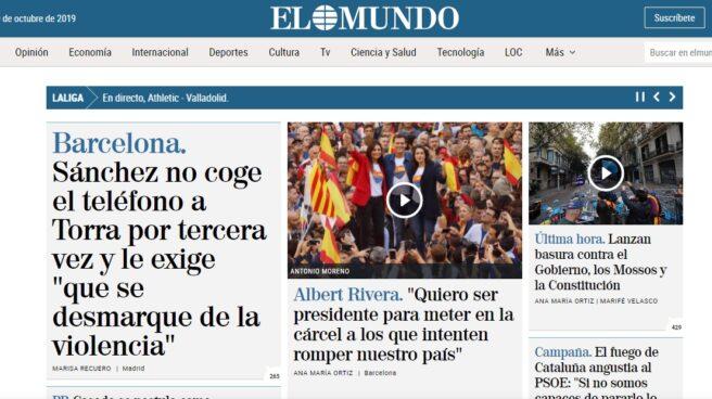 Portada de Elmundo.es
