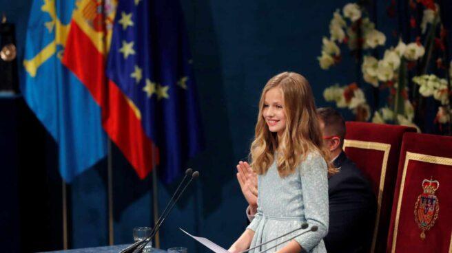 La princesa Leonor en su primer discurso público.