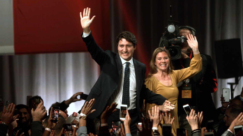Justin Trudeau y su esposa Sophie en Montreal