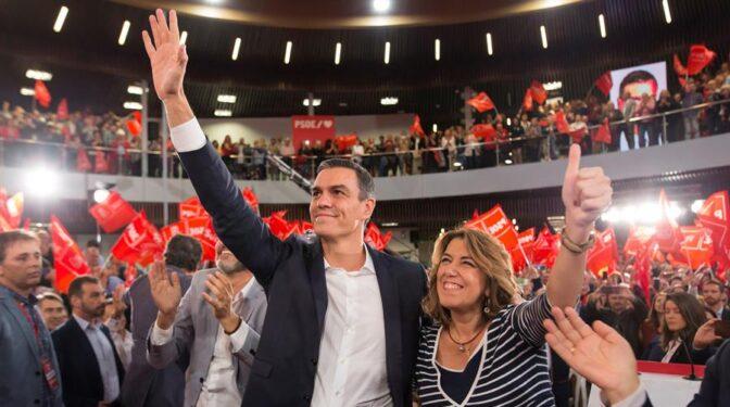 Sánchez pone en el punto de mira a Susana Díaz, Gabilondo y Caballero